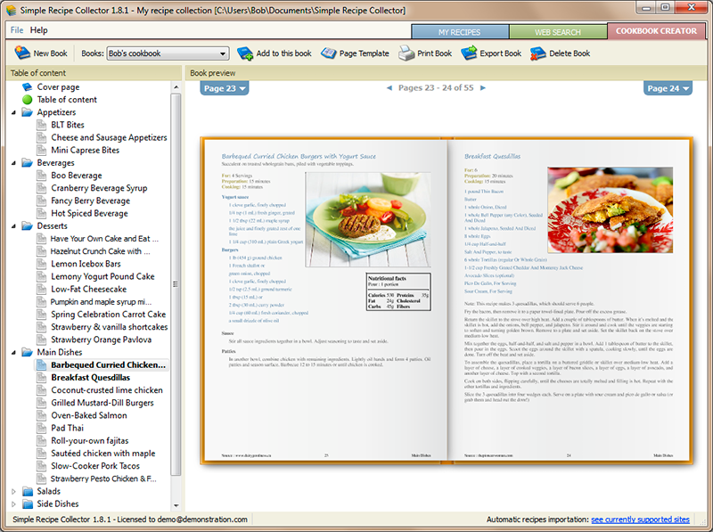simple recipe collector recipe organizer and cookbook creator for